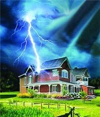 Молниезащита зданий, молниеприемник г.Иркутск